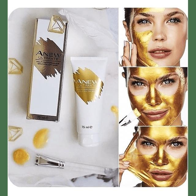 Mascarilla facial oro piel minerales antiedad peel off anew avon
