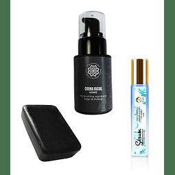 Crema antiarrugas hombre + Serum roll-on ojos ácido hialurónico + Jabón