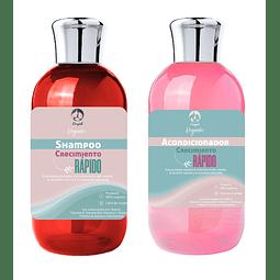 Shampoo + acondicionador crecimiento rápido pelo fortalece nutre cabello