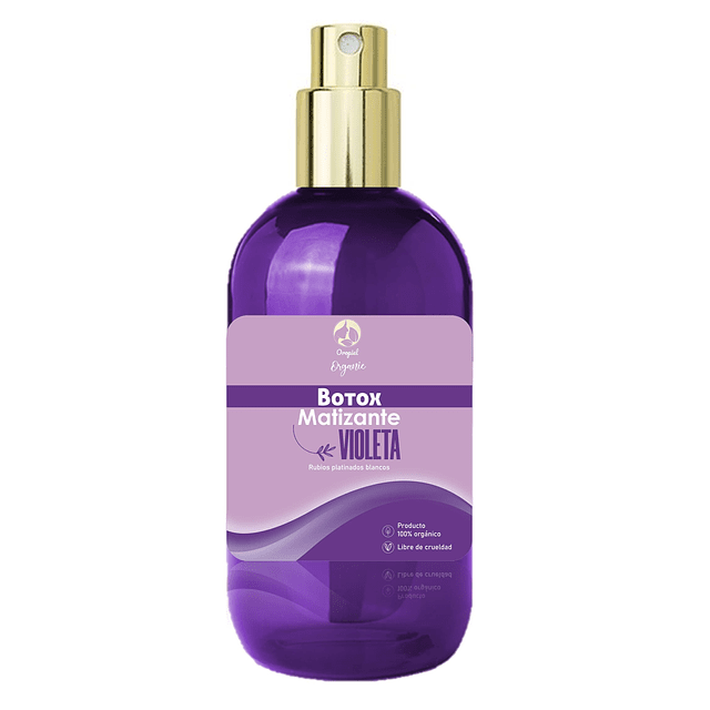 Matizador violeta o morado cabello rubio, blanco y canoso crema pelo