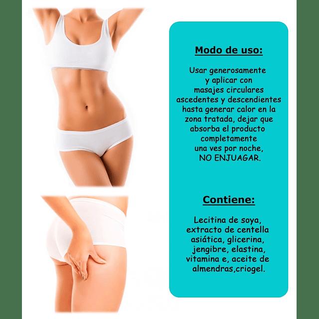Gel reductor corporal elimina celulitis flacidez reafirma piel cuerpo