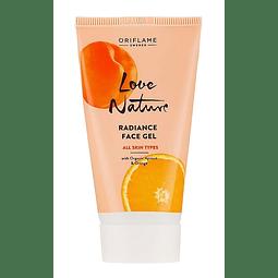 Gel facial vitamina C antioxidante hidratante rostro piel humectada