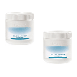 Gel crioactivador corporal levinia dermik reduce medidas cuerpo set 2