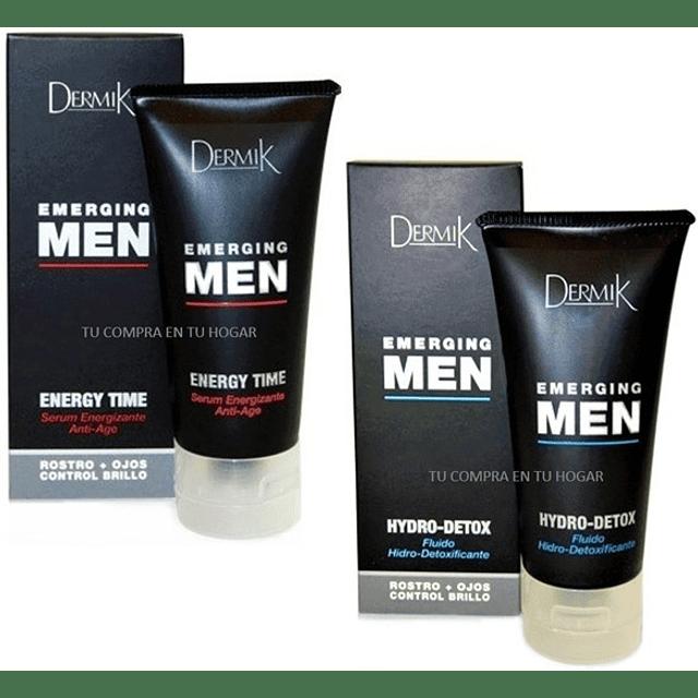 Crema + Serum Emerging Men Dermik Antiarrugas facial hombre pack antiedad oferta