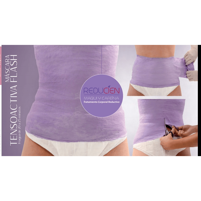 Yesoterapia reductiva cintura abdomen venda levinia dermik reducien reductora