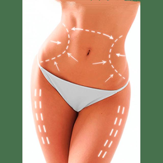 Crema adiposuction liporeductora dermik 200 ml reductiva y drenante corporal