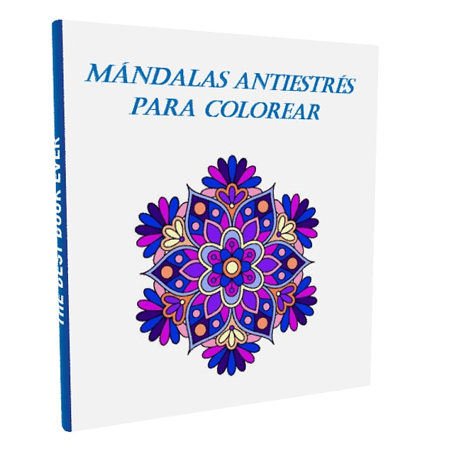 Libro pintar mandalas antiestrés adultos y niños colorear PDF