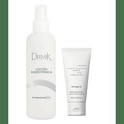 Crema humectante facial + loción hidratante y refrescante rostro pack