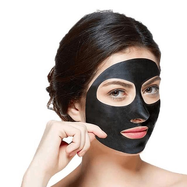 Mascarilla facial carbón activo elimina puntos negros peel off pure skin