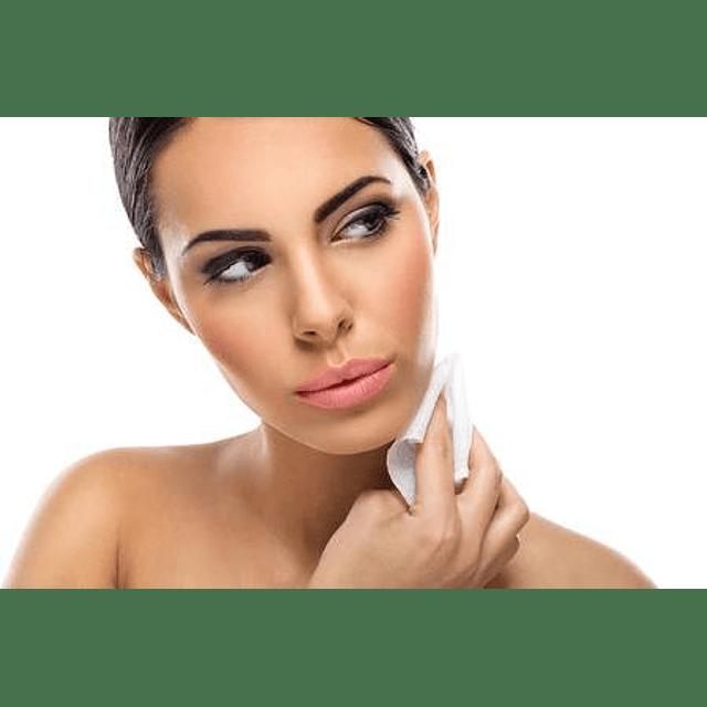Toallitas tela desmaquillante limpieza rostro elimina maquillaje facial pack 10