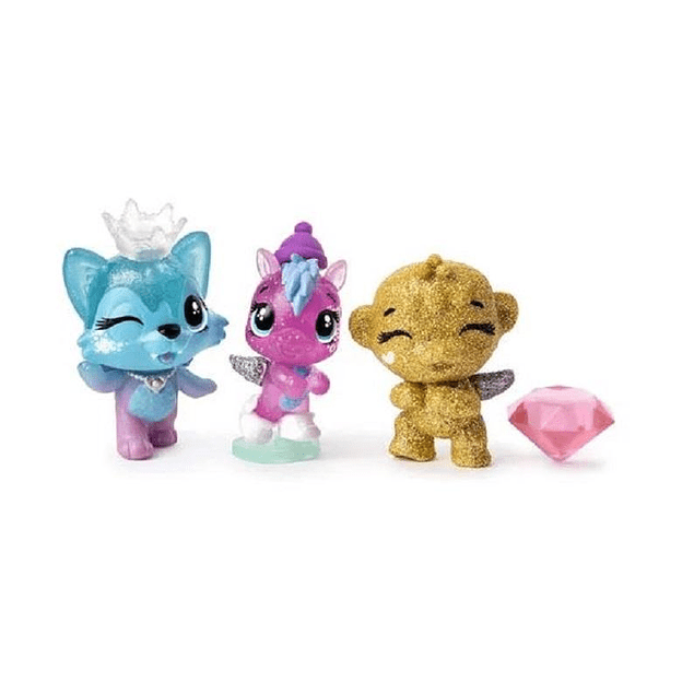 HATCHIMALS COLLEGGTIBLES - ROYAL SNOW BALL - PACK 4