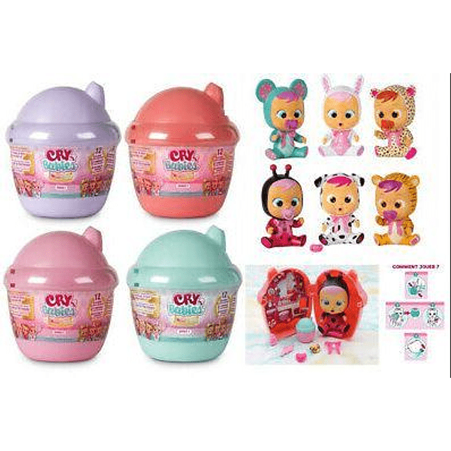 Cry Babies - Magic Tears Mini Bottle House Rosada - Bebes llorones