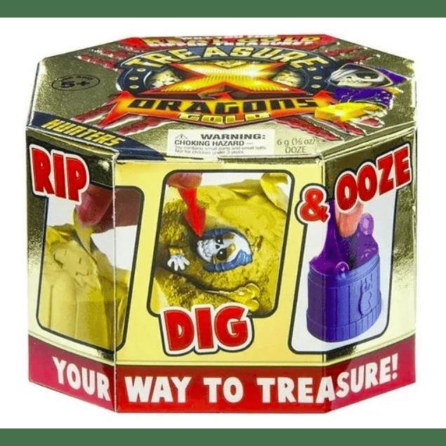 Treasure X S2 Cazador De Tesoro Pack Dragons Oro Real