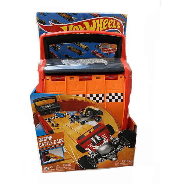 Porta 20 Autitos Hot Wheels Con Pista Incluida