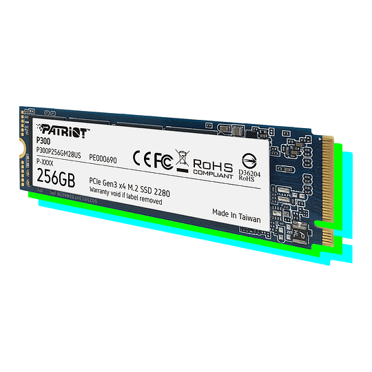 SSD PATRIOT P300 256 GB M.2 2280 PCIe Gen 3x4  - Image 1