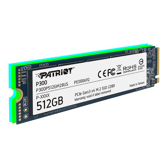 SSD PATRIOT P300 512 GB M.2 2280 PCIe GEN 3 X4  - Image 1