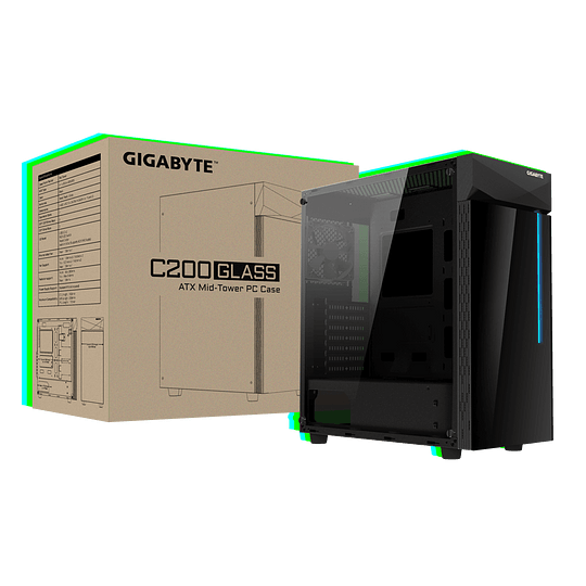 Gabinete Gigabyte C200 Glass - Image 1