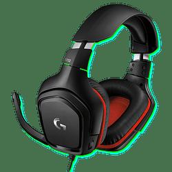 Audífonos Logitech Gaming G332 con micrófono, Black/Red