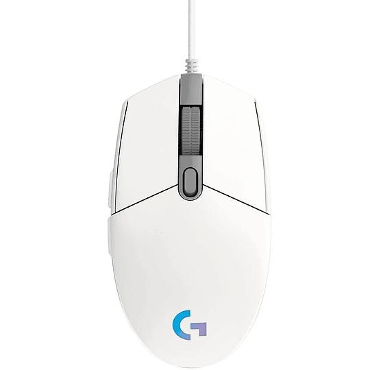 Mouse Gamer Logitech G203 RGB LIGHTSYNC, 6 botones programables, 8.000 DPI, White  - Image 2