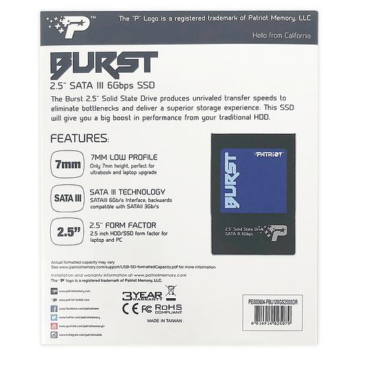 "Patriot SSD 120GB Burst 2.5"" SATA III  - Image 3"