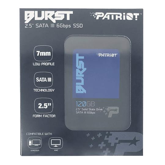 "Patriot SSD 120GB Burst 2.5"" SATA III  - Image 4"
