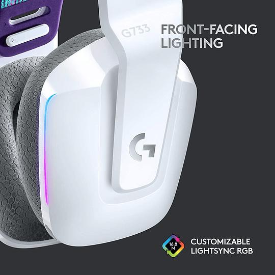 Logitech G733 Lightspeed Wireless RGB Gaming Headset - White (981-000882) - Image 4
