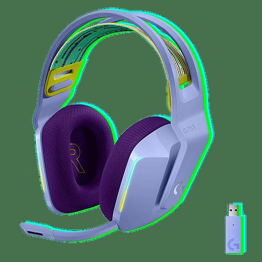 Logitech G733 Lightspeed Wireless RGB Gaming Headset - Lilac (981-000889) - Image 1