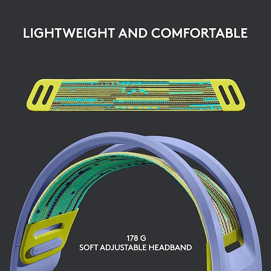 Logitech G733 Lightspeed Wireless RGB Gaming Headset - Lilac (981-000889) - Image 2