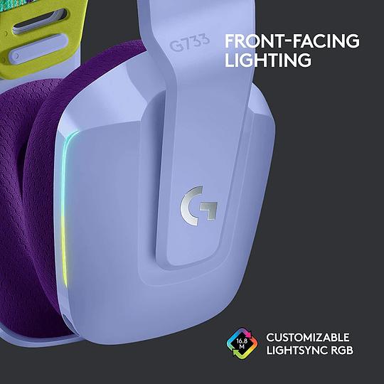 Logitech G733 Lightspeed Wireless RGB Gaming Headset - Lilac (981-000889) - Image 4