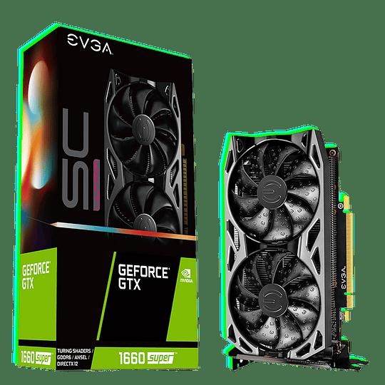 Tarjeta de Video EVGA GeForce GTX 1660 SUPER SC ULTRA GAMING, 06G-P4-1068-KR, 6GB GDDR6, Dual Fan, - Image 1