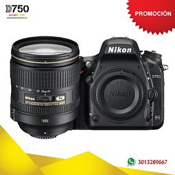 Nikon FX D750 24-120mm VR 24.3 Mpx con Memoria 32gb y Estuche
