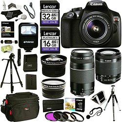 Super Kit Canon T6 18-55mm Is con Memoria 32gb y mucho más