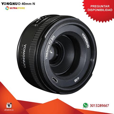 Yongnuo YN 40mm F2.8 para Nikon DX FX