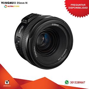 Yongnuo YN 35mm f2 para Nikon F DX FX