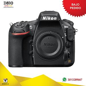 Nikon FX D810 Cuerpo 36.3 Mpx con Memoria 64gb y Estuche