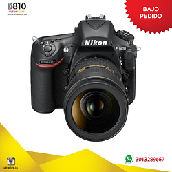 Nikon FX D810 24-120mm VR Cuerpo 36.3 Mpx con Memoria 64gb y Estuche