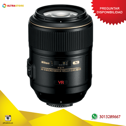 Lente Nikon 105mm f2.8 G VR Micro Afs IF-ED
