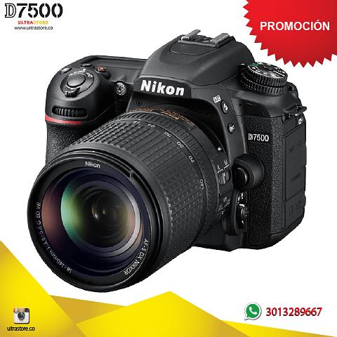Nikon D7500 18-140mm VR Video 4K 20.9 Mpx Memoria Estuche 32gb kit