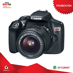 Canon t6 / 1300D 18-55mm Is con estuche mg10 y memoria 32gb