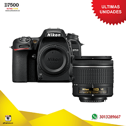 Nikon D7500 18-55mm VR AFP Video 4K 20.9 Mpx Memoria 32gb Estuche