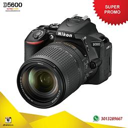 Nikon D5600 18-140mm Vr con Memoria 32gb y Estuche