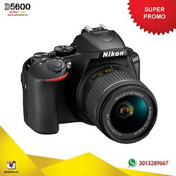 Nikon D5600 18-55mm Vr AFP con Memoria 32gb y Estuche