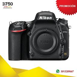 Nikon FX D750 Cuerpo 24.3 Mpx con Memoria 32gb y Estuche