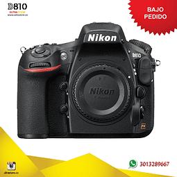 Nikon FX D810 Cuerpo 36.3 Mpx con Memoria 32gb y Estuche