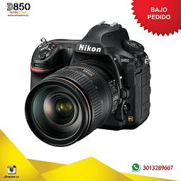 Nikon FX D850 45.7 MPX 24-120mm VR 24.3 Mpx con Memoria 32gb y Estuche