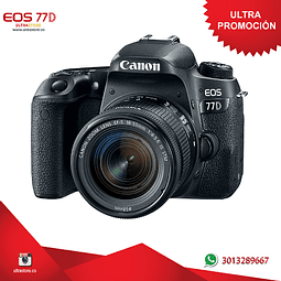 Canon 77D 18-55mm Is Stm con Memoria 32gb y Estuche