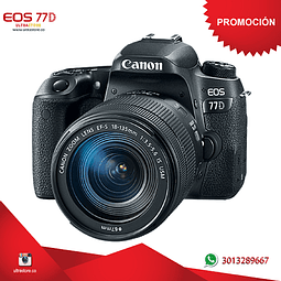 Canon 77D 18-135mm Is Nano con Memoria 32gb y Estuche