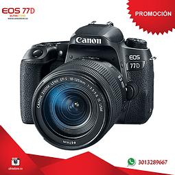 Canon 77D 18-135mm Is Nano con Memoria 32gb y Estuche