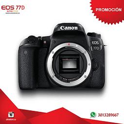 Canon 77D Cuerpo Memoria 32gb y Estuche