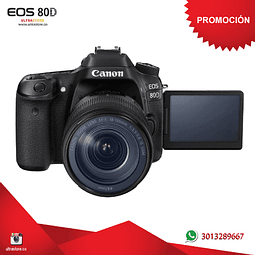 Canon 80D 18-135mm Is Nano con Memoria 32gb y Estuche